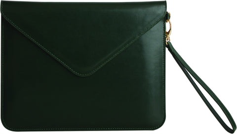 Paperthinks Recycled Leather Tablet Folio - Deep Olive