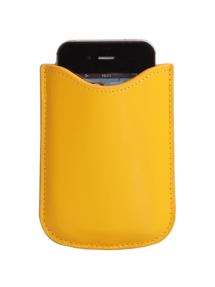 Paperthinks Eco-Friendly Leather Card Case - Yellow Gold