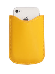 Paperthinks Eco-Friendly Leather Card Case - Yellow Gold - Paperthinks.us