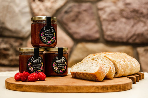 Organic Raspberry Mango Jam - Ironwood Farm