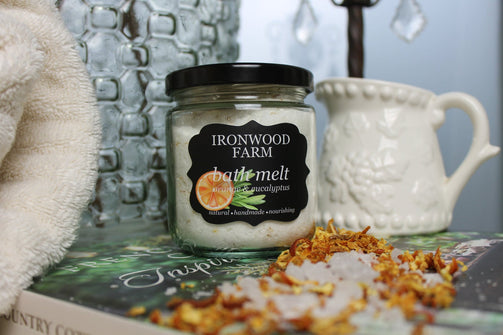 Essential Oil Orange Bath Melt - Ironwood Farm