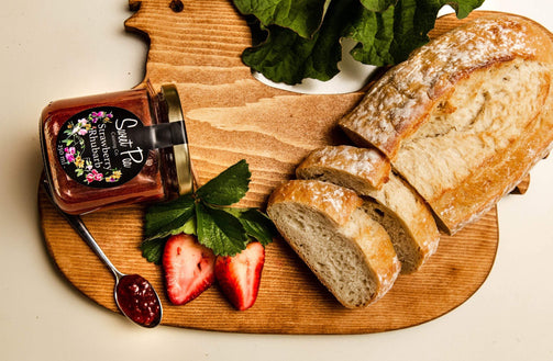 Organic Strawberry Rhubarb Jam - Ironwood Farm