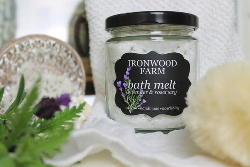 Essential Oil Lavender Bath Melt - Ironwood Farm