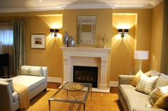 Large wall sconces for your main lighting.