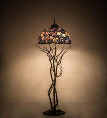 75H Tiffany Magnolia Floor Lamp