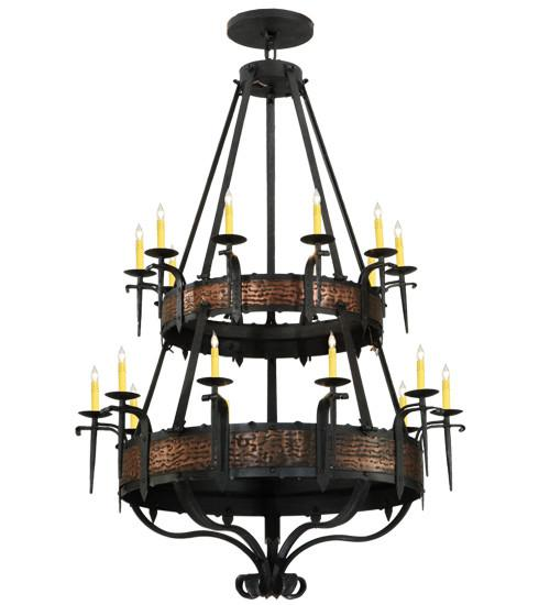 "48""W Costello 20 LT Two Tier Chandelier"