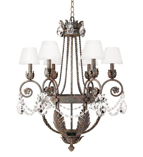 "26"" Wide Antonia 6 Light Chandelier - Joskat Lighting"