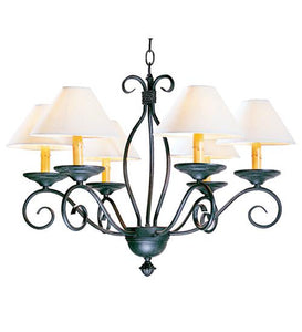 "26"" Wide Sienna 6 Light Chandelier"