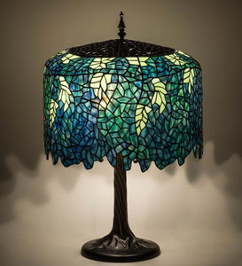 "28"" High Tiffany Wisteria Table Lamp"