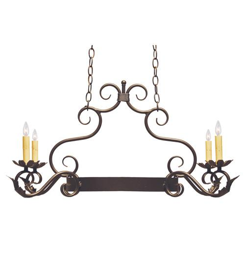 "32"" Long Eloise 4 Light Pot Rack - Joskat Lighting"