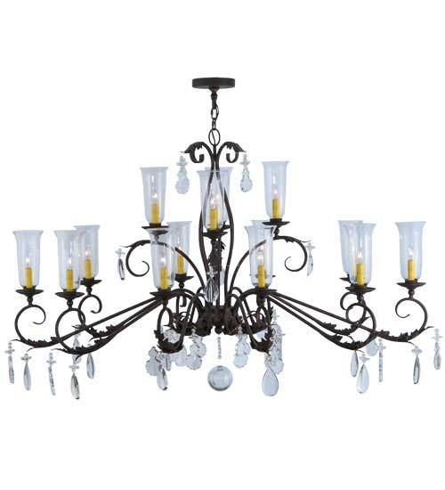 "62"" Long Windsor 14 Light Oblong Chandelier"