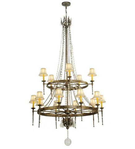 "Image of 48"" Wide Amaury 15 Light Two Tier Chandelier"