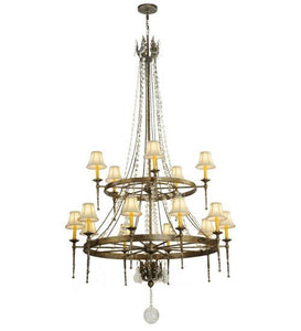 "48"" Wide Amaury 15 Light Two Tier Chandelier"