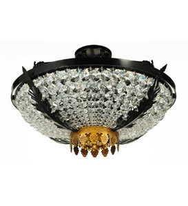"24"" Wide Chrisanne Crystal Flushmount"