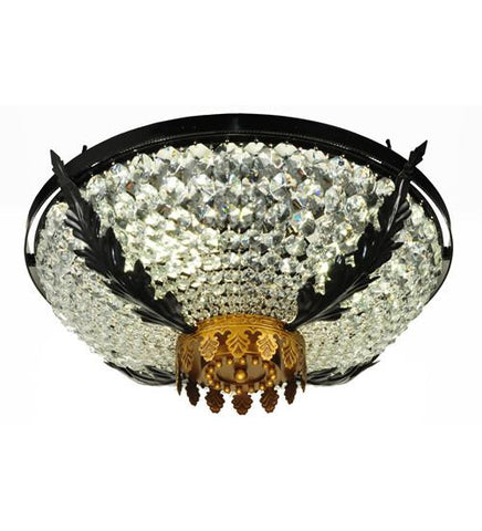 "Image of 24"" Wide Chrisanne Crystal Flushmount"