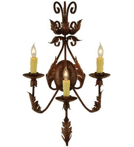 "16.5""W French Elegance 3 LT Wall Sconce"