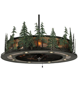 "48""W Tall Pines W/Up & Downlights & LED Spotlight Chandel-Air"