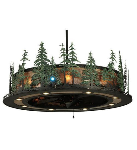 "Image of 48""W Tall Pines W/Up & Downlights & LED Spotlight Chandel-Air"