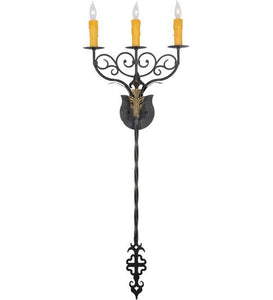 "15.5""Wide Merano 3 Light Wall Sconce"