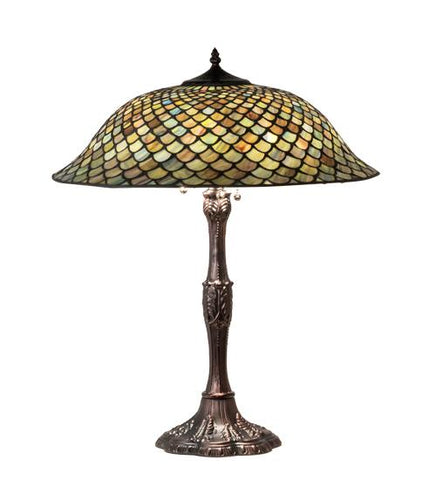 tiffany fishscale table lamp