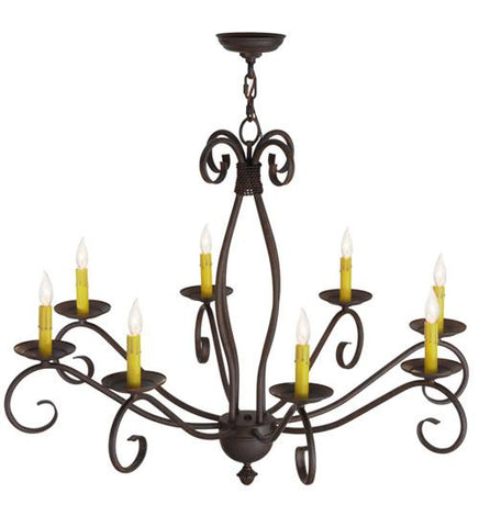 "Image of 36""W Sienna 8 LT Chandelier"
