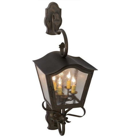 "Image of 12""W Christian Lantern Wall Sconce"