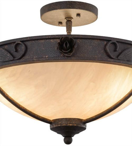 "Image of 17""W Arabesque Semi-Flushmount"