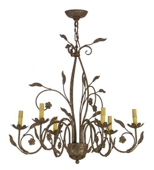 "30""W Bordeaux 6 LT Chandelier - Joskat Lighting"