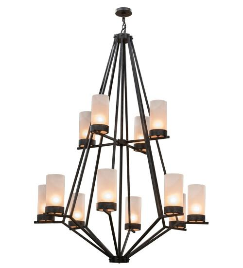 "60""W Galen 12 LT Two Tier Chandelier - Joskat Lighting"