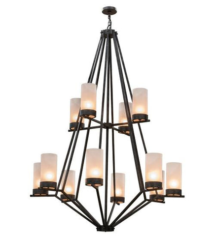 "Image of 60""W Galen 12 LT Two Tier Chandelier"