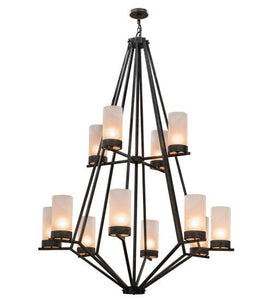 "60""W Galen 12 LT Two Tier Chandelier"
