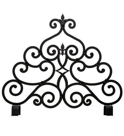 x 32h fleur-de-lis fireplace screen