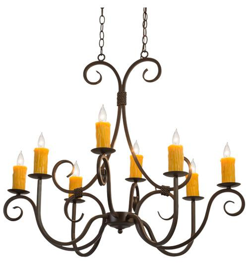 "36""L Clifton 8 LT Oblong Chandelier - Joskat Lighting"