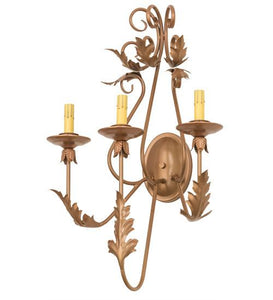 "17""W French Elegance 3 LT Wall Sconce Hardware"
