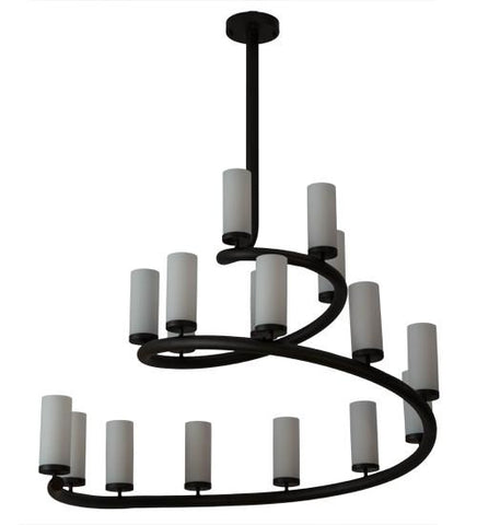 "Image of 60""W French Horn 17 LT Chandelier"