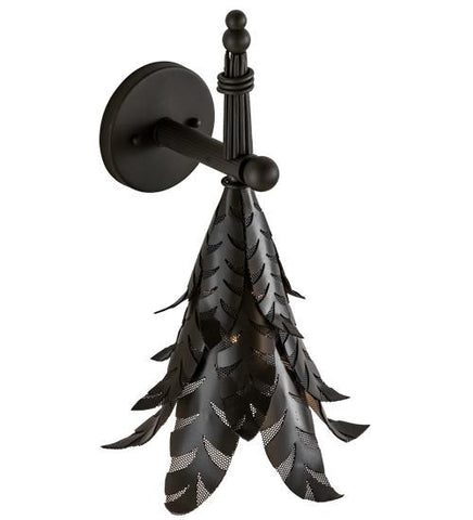 tropical palm wall sconce