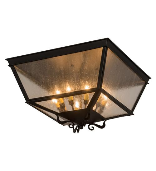 "24"" Square Madeline Flushmount - Joskat Lighting"