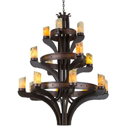 "Image of 48"" Wide Castilla Jadestone 16 Light Three Tier Chandelier, Three Tier Chandelier Wide Castilla Jadestone Light Three Tier Chandelier, Light Three Tier Chandelier, Jadestone Chandelier, Three Tier Chandelier"