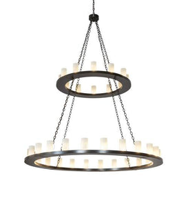 "72"" Wide Loxley 36 Light Two Tier Chandelier"