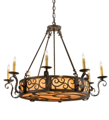 "Image of 36""W Delano 8 LT Chandelier"