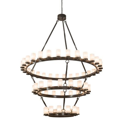 "84"" Wide Noziroh Ring 60 LT Three Tier Chandelier"