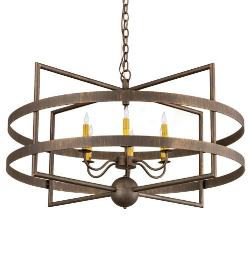 "36"" Wide Aldari 6 Light Chandelier - Joskat Lighting"
