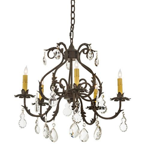 "24"" Wide Chantilly 5 Light Chandelier"