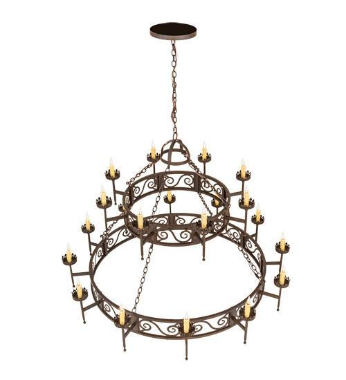 "66"" Wide Majella 20 Light Two Tier Chandelier"