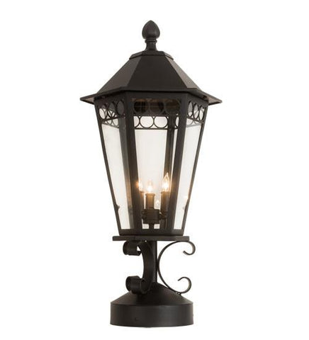 "14"" Wide Yorkshire Lantern Post Mount"