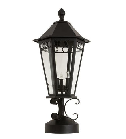 "Image of 14"" Wide Yorkshire Lantern Post Mount"