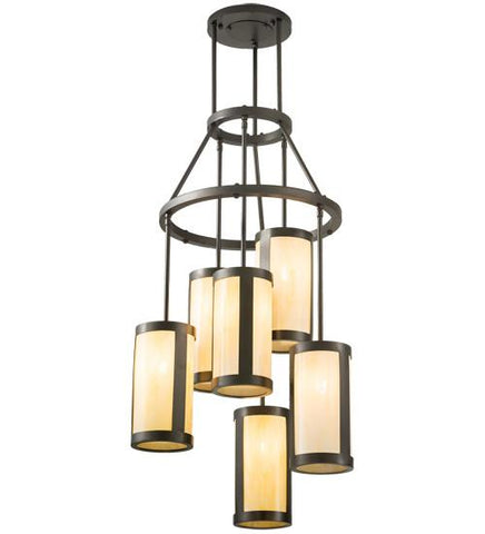 "Image of 24"" Wide Cartier 6 Light Chandelier"