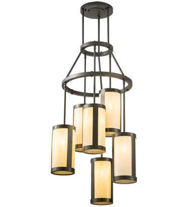 "24"" Wide Cartier 6 Light Chandelier"