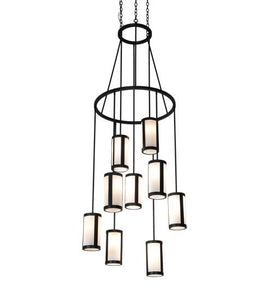 "35"" Wide Cartier 9 Light Chandelier"