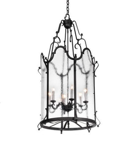 "24"" Wide Dubrek 6 Light Foyer Lantern"